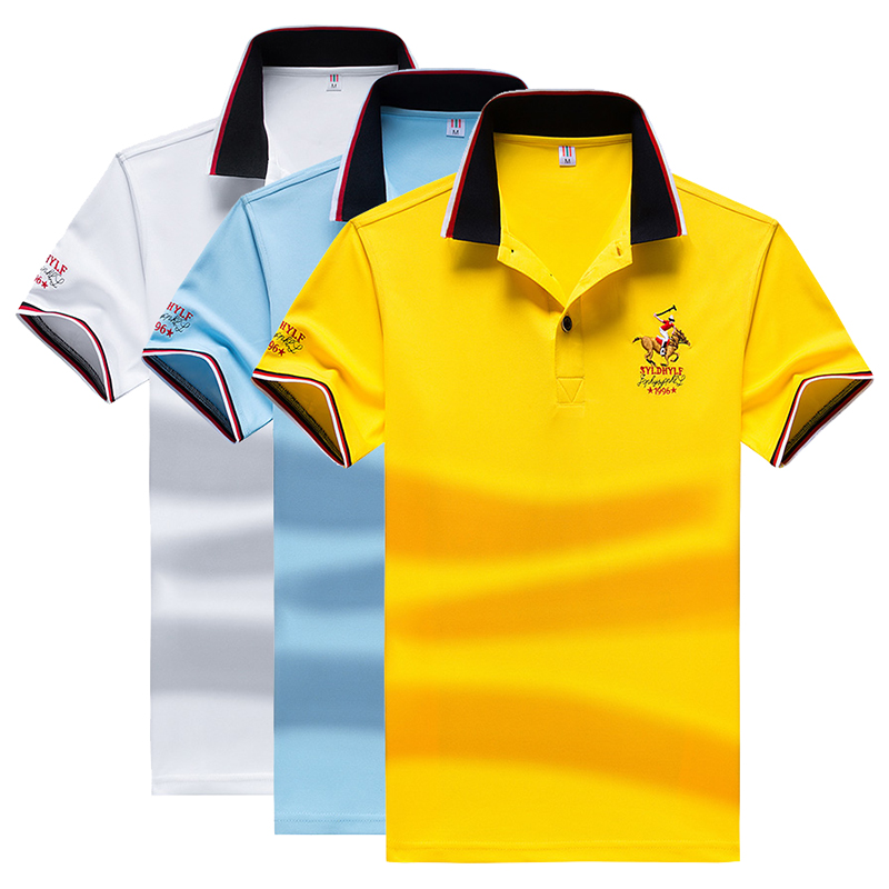 Dropshipping   Polo   Shirt Men High Quality Men Cotton Short Sleeved Summer Dress Shirt Brand Jersey   Polo   Hombre Size M-4XL 7313233