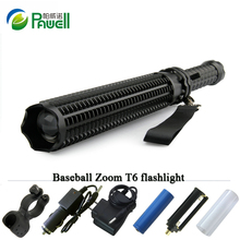 Lanterna Powerful Telescoping Cree Xml t6 Led Torch Tactical Flashlight Baseball Bat Baton Flash Light Self Defense 18650