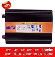 Off grid 4000 W Digitale Display hoge frequentie 12 v 220 v dc ac converter Power generator Pure Sinus omvormer thuis omvormer