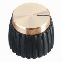 Nueva 10x amplificador de guitarra AMP perillas Push-en negro + tapa de oro para Marshall amplificador
