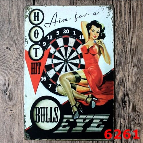 Hot <font><b>Hit</b></font> <font><b>sexy</b></font> Lady Vintage Tin Sign Bar Pub Home Wall Decor Retro Metal Poster 20x30CM image