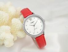 Onlyou marca mujeres relojes de pulsera de cuero blanco reloj de pulsera de moda casual de las señoras vestido reloj de diamantes de imitación de oro regalo de la muchacha 81039