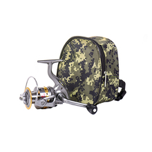 18*15*8cm Camo Buggy Bag Oxford Cloth Fishing Reel Container Easy Carry Accessories Basket Pocket Fihsing Wheel Case