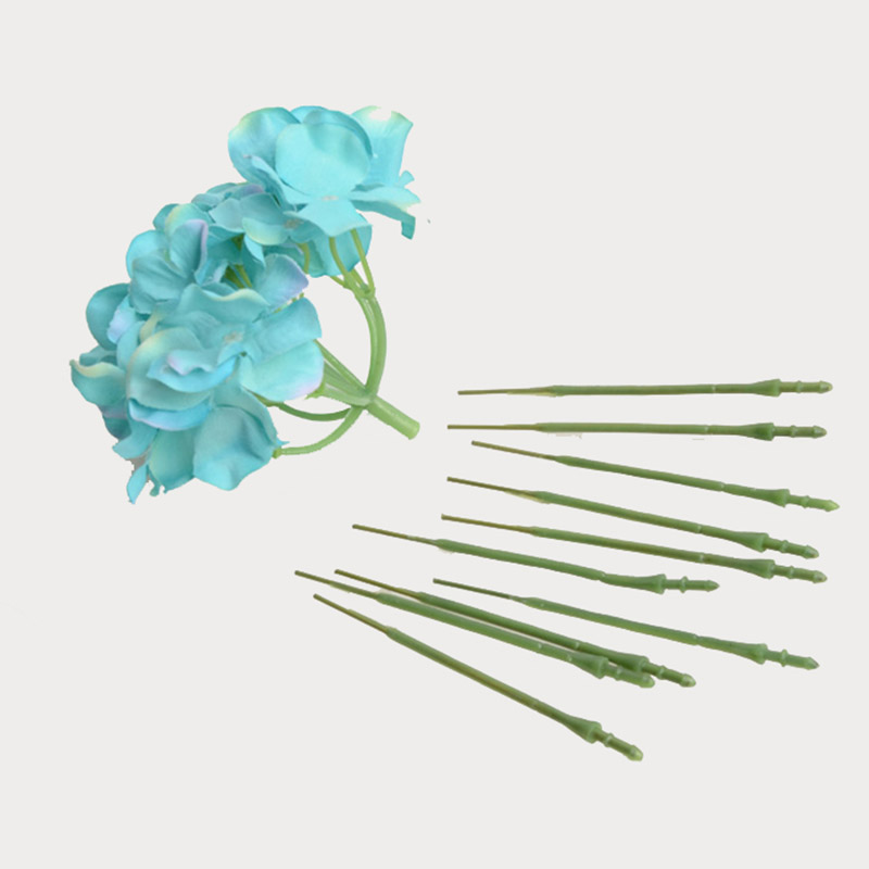 50pcs Artificial 57cm Fake Rose Flower Stems with Leaves For DIY ...