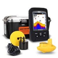 328ft 100m Wired Wireless Depth Fishfinder Sonar Transducer 2 In 1 Sensor Portable Waterproof Fish Finder