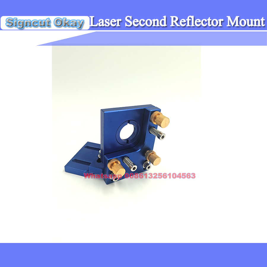 Co2 Laser First Reflection Mirror 25mm Mount Support Integrative Holder Blue Color  For Laser Engraving Cutting Machine