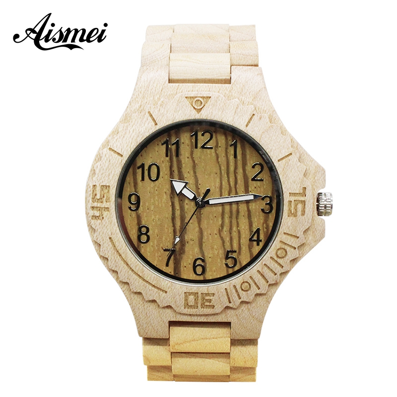 2018 Luxury Top Brand Full Wooden male Watches Creative Fashion Casual Handmade Nature Wood Men Wrist Watch Gifts