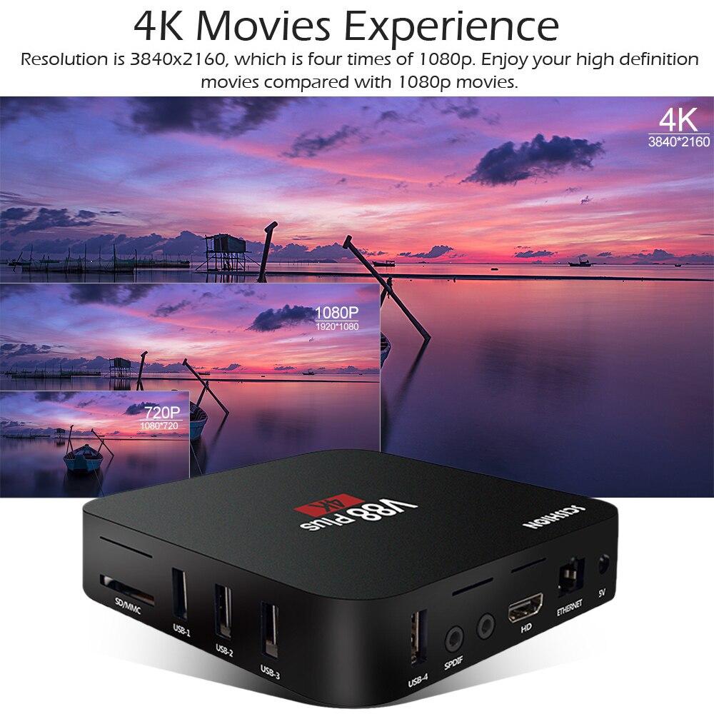 V88 Plus Smart Box Android 8,1 TV caja RK3229 Quad Core 4 K USB2.0 2 GB/16 GB Miracast tv box WiFi PK X96 X96 MINI