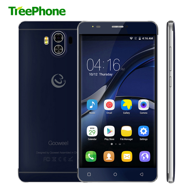 Original Gooweel G9 Mobile phone 4G Lte MTK6737 Quad core Android 7.0 5.5 inch QHD Smartphone 1GB+8GB 13MP+8MP GPS Cell phone
