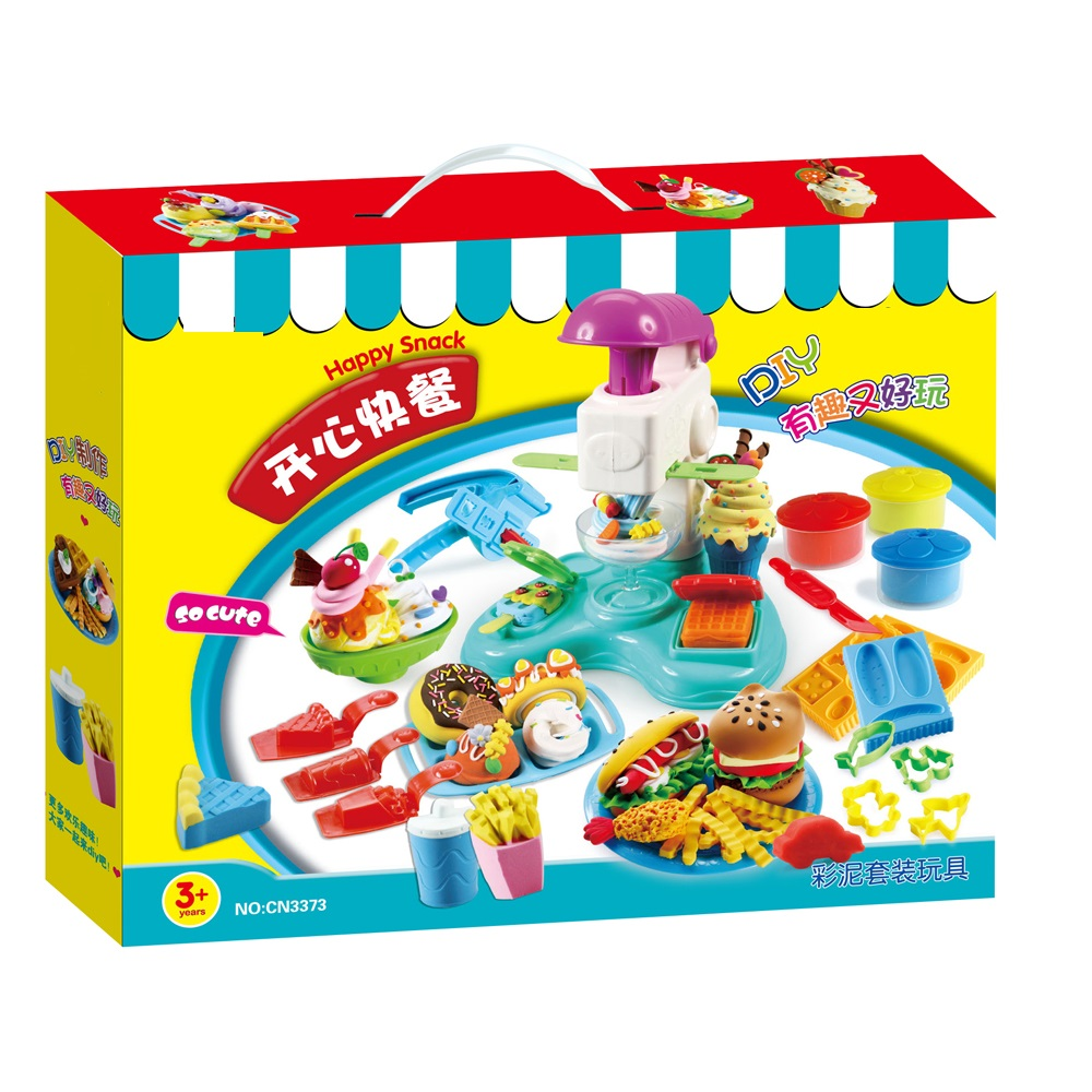 Baby kitchen set toys colorful playdough diy fast food set with ice cream rubber mud machine new year gift for children in kitchen toys from toys hobbies