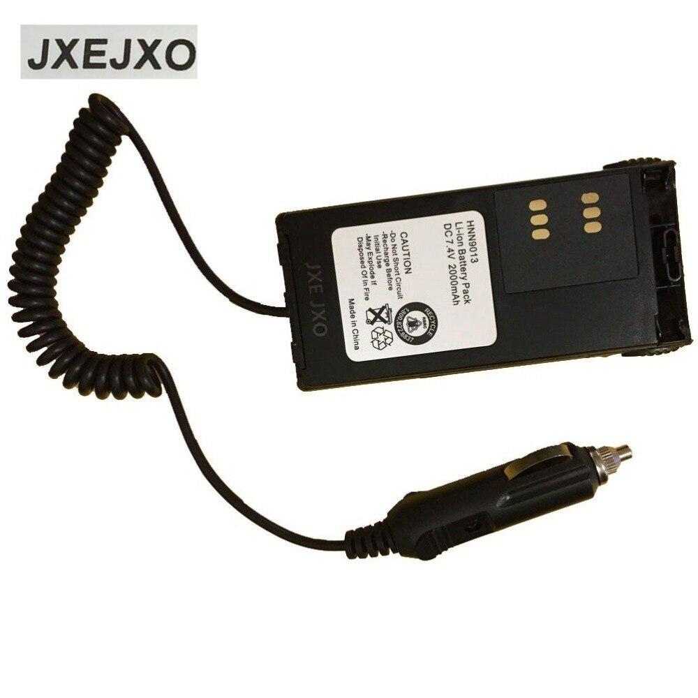 JXEJXO Car Radio Battery Eliminator+Adaptor For MOTOROLA For GP328 GP339 GP340 MTX850 HT750 Walkie Talkie Two Way CB Ham Radio