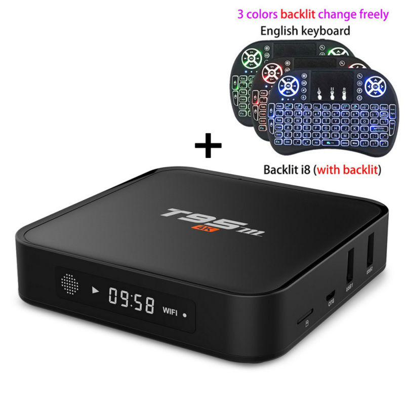 New T95m 2GB RAM 8GB ROM android 6.0 Smart tv box 4K HD LED display Amlogic S905X Quad-core 64Bit 2.4GHz Wifi set top box PK X96