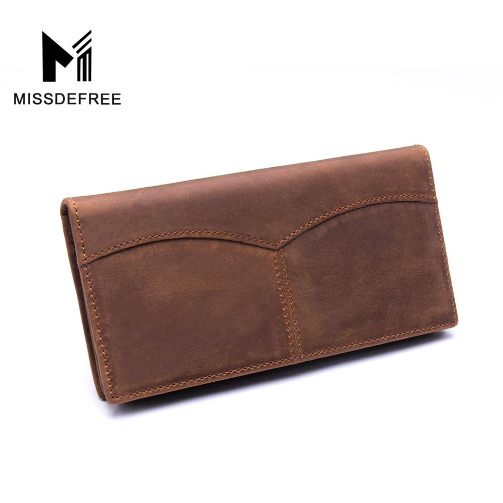 새로운 남성 지갑 빈티지 암소 크레이지 호스 고급 가죽 좋은 매뉴얼 남성 지갑 Carteira Masculina 무료 배송