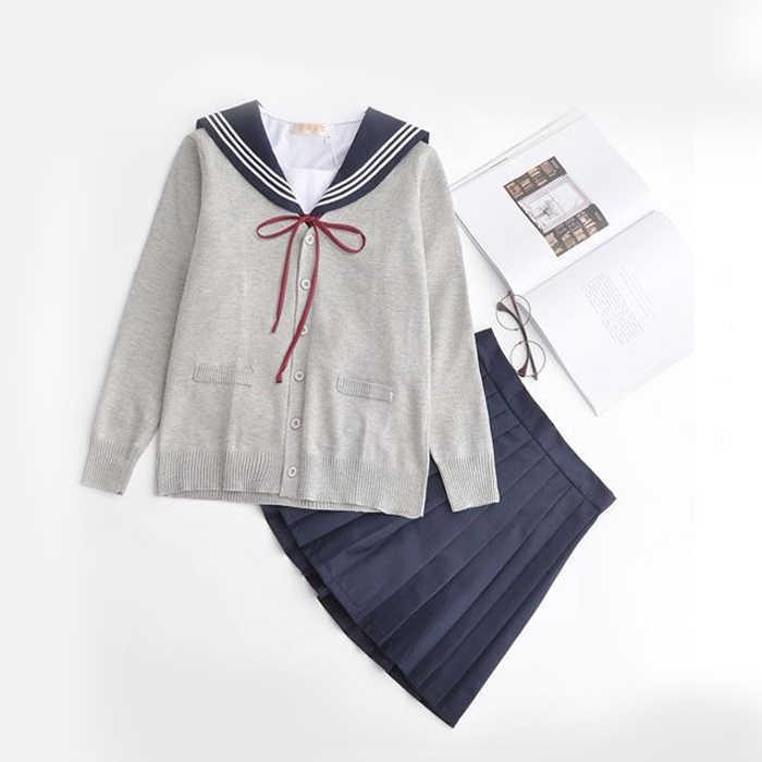 2019 летняя японская школьная форма в Корейском стиле, милый костюм для косплея в стиле японской школьницы, Костюм Униформа с топом + юбка