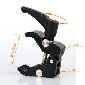 Image 5 - Photographie caméra Clip rotule 1/4 3/8 trous de vis caméra pince Flash bras support de caméra fixe Clip supports montage Fotografia
