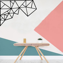 Large geometric pattern Family Wall Stickers Mural Art Home Decor Removable Sticker Decals stickers muraux