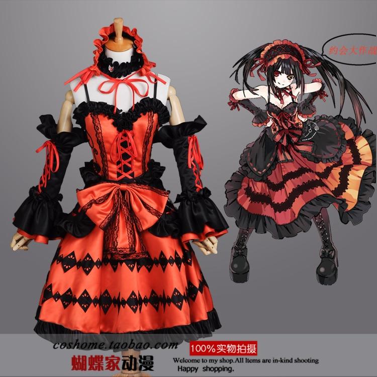 font b Anime b font DATE A LIVE font b Cosplay b font Tokisaki Kurumi