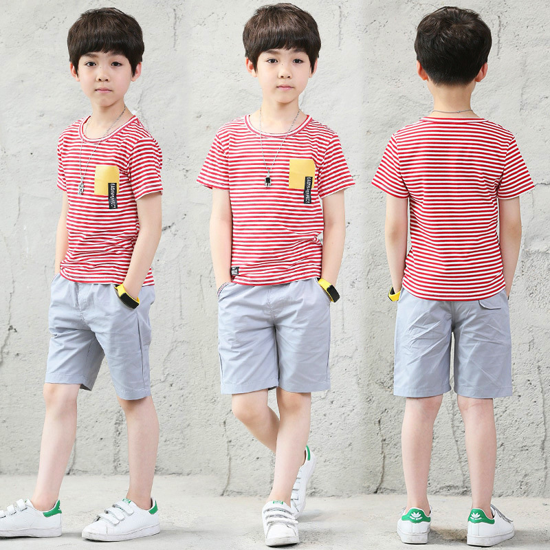 Children clothing sets summer 2018 new boys clothes Fashion Kids Sports Suits t-shirt Tops+pants two-piece boys Outfits