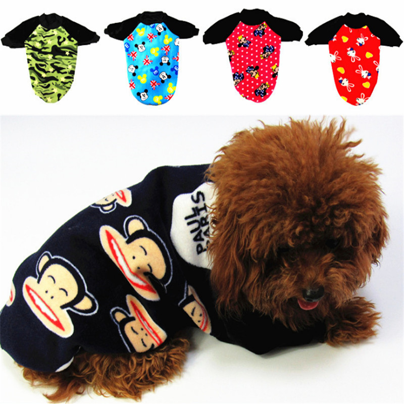 Hote Sale Autumn And Winter Dog Clothes Pets Coats Pet Products Soft Cotton Puppy Dog Clothes clothes for yorkies