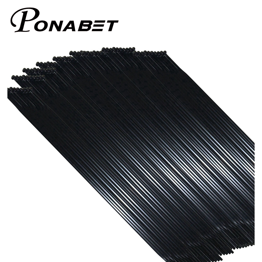 PONABET CN Mac Aero 494 Bladed Spoke [black ] [J-Bend] + CN Alloy Nipples