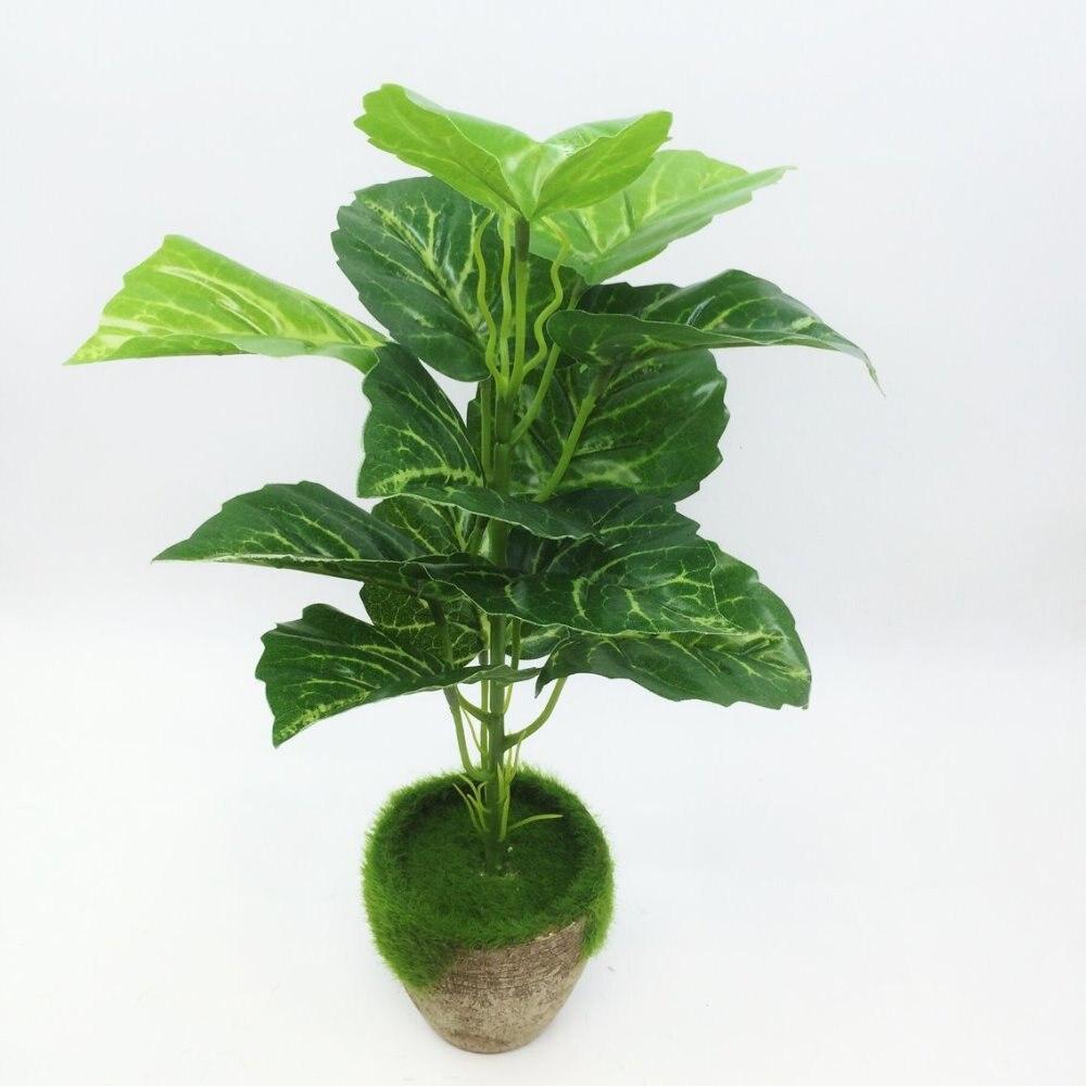 2017 Yapay Yeşil turp Bonsai Ağacı Satılık Çiçek Dekor - Tatiller ve Partiler Için - Fotoğraf 2