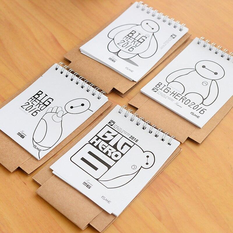 Aliexpress.com : Buy Mini table calendar 2016 Cute cat & baymax ...