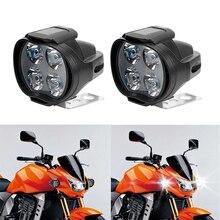 1 пара мотоциклы Светодиодные фары Скутеры Spotlight Рабочая пятно света супер яркий мотоцикл противотуманных фар белый 9-85 В 800lm