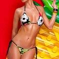 2016 impresión de la historieta de mickey de las mujeres sling correas triángulo bikinis set traje de baño traje de baño verano beachwear del traje de baño sml xl