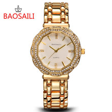 2016 Excessive High quality Watch Relogio Feminino Luxurious Model Ladies Gown Watches Metal Quartz Watch Diamonds Gold Watches Womans Waches