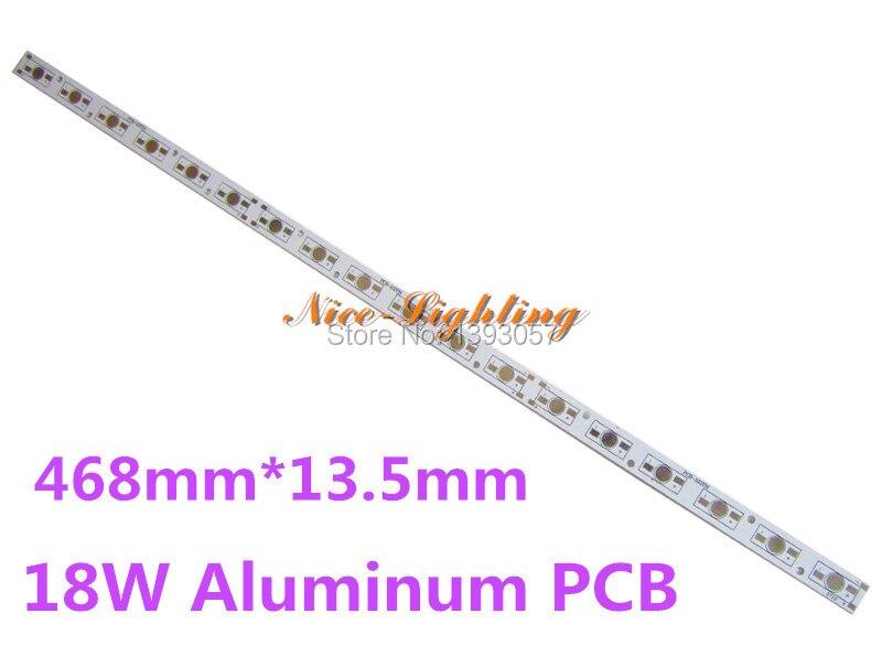 LED Licht Platte Rechteck PCB Board, 468mm * 13,5mm * 1,6mm LED Aluminium Basis platte können löten 18 stücke LEDs