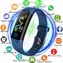 LIGE 2019 New Smart Men Bracelet Waterproof Sport Fitness Watch Blood Pressure Heart Rate Monitor Pedometer Digital Clock +Box