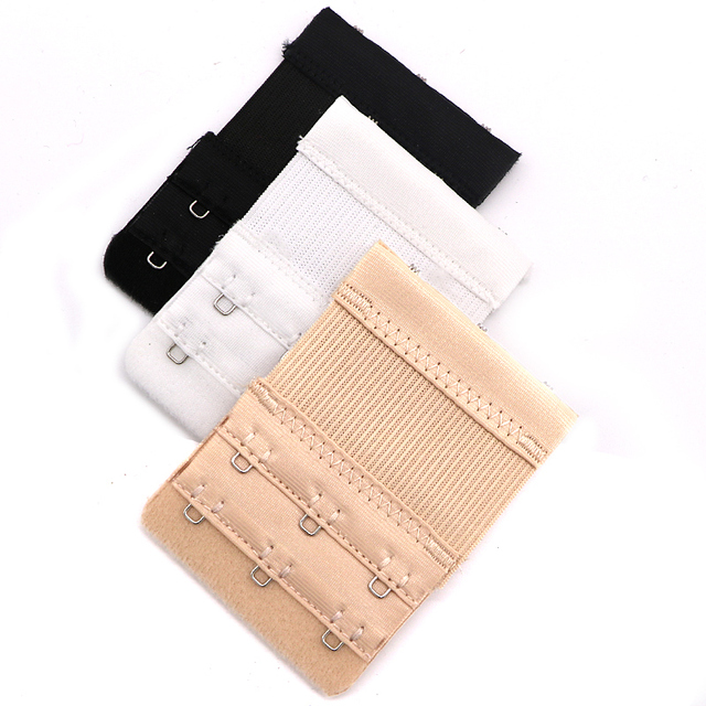9ffc1877f7 3PC Ladies Bra Extenders Strap Extensions 3 Hooks 2 Rows Belt Buckle  Elastic Bra Hook Extender