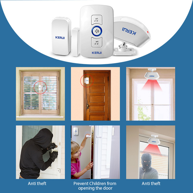 Waterproof Touch Button Smart Home Welcome Doorbell Alarm