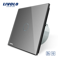 Livolo EU Standard Switch VL C701DR 15 Grey Glass Panel AC 220 250V Remote Dimmer Function