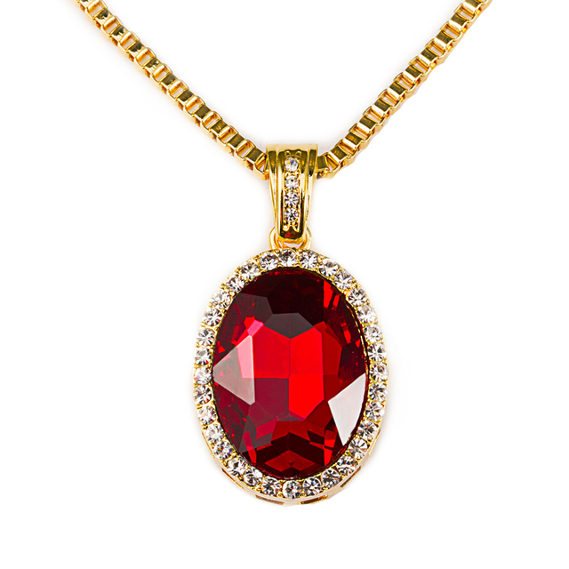 Ice out star jewelry red stones gem pendants bling bling necklace ice out star jewelry red stones gem pendants bling bling necklace crystal pendant red white blue aloadofball Gallery