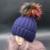 2016 Chapéu de Pele de Vison Real Patchwork Adulto Casuais Mulheres Touca Gorro de Inverno Quente de Malha Grossa Guaxinim Pom Bobble Chapéus Gorro