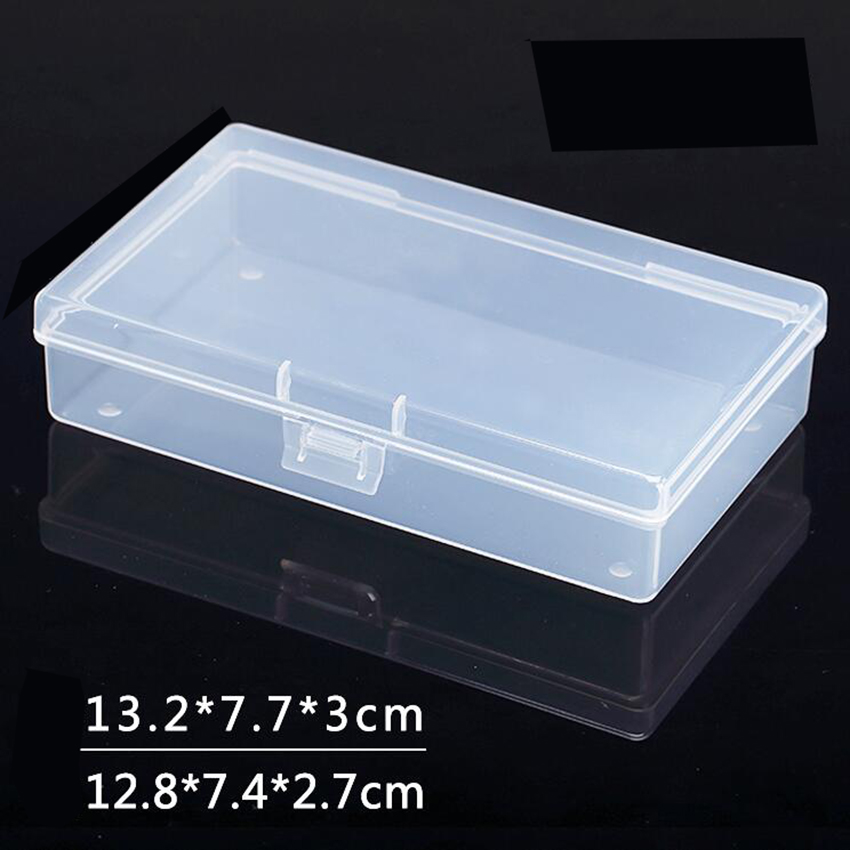 Transparent Plastic Box Storage Collections Product Packaging Box Dressing Case Mini Case Out Size 13.2*7.7*3cm