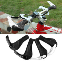 1 Set Cycling MTB Mountain /road Bike Bicycle lock-on carbon Handlebar Cover Handle Grip Bar End bicycle parts  NEW 1 pair mountain bike bicycle bar ends mtb cycling carbon fiber small auxiliary handlebar bicycle parts accessories high grade