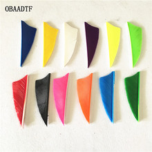 50pcs 2inch Parabolic Shield Cut Turkey Feather Shooting Arrow Bow and Sports Accessories