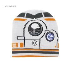Sellworld/зимняя детская шапка со Звездными войнами и BB-8 персонажами; Skullies& Beanies