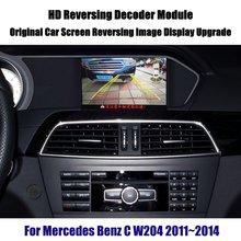 W204 Liandlee Para Mercedes Benz C 2011 ~ 2014 Reversa Módulo Decodificador de Atualização de Tela de Exibição de Imagem Da Câmera Do Carro de Estacionamento Traseiro atualização