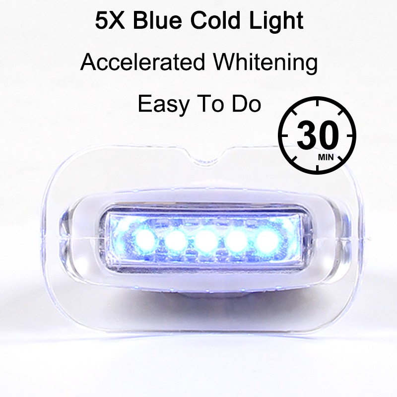 Us 8 99 Dental Blue Cold Mini Led 5 Lights Contect With Teeth Whitening Gel Strips Tooth Care Easy Use At Home In From Beauty