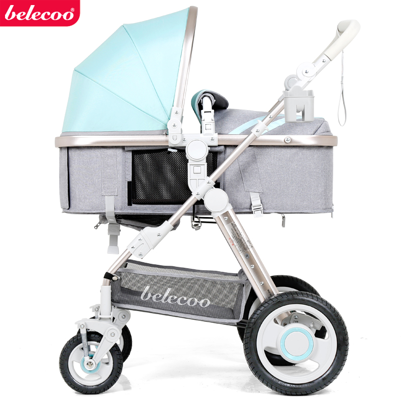 Light baby stroller Belecoo brand baby carriage baby stroller child wheelbarrow light baby car high landscape EU strollers купить недорого в Москве