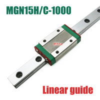 CNC part 15mm linear rail guide MGN15 length 1000mm with mini MGN15H / C linear block carriage miniature linear motion guide way
