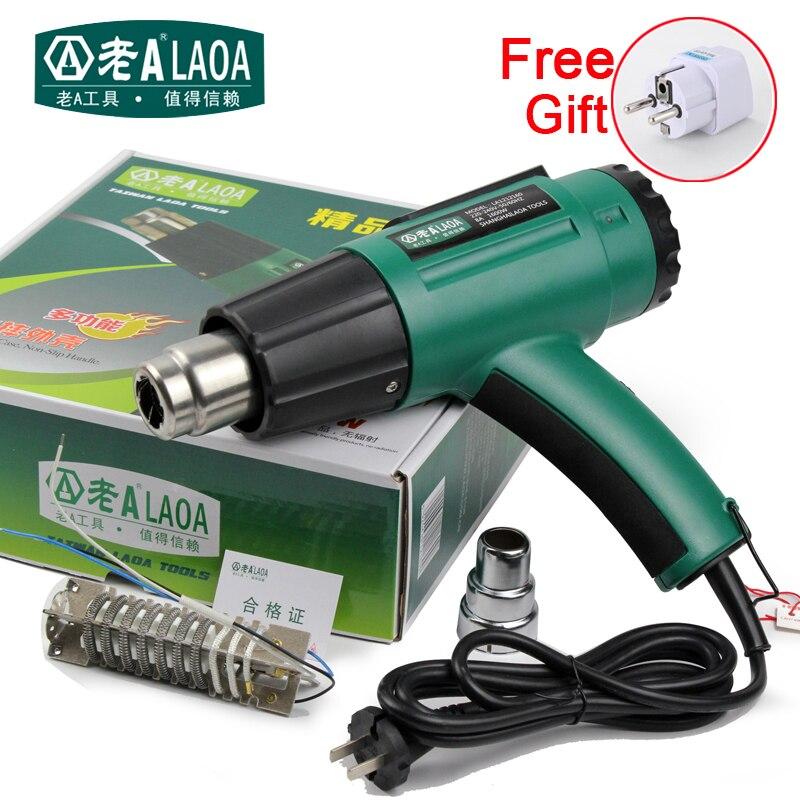 Laoa 1600 W Pistolas de calor temperatura ajustable pistola de aire caliente aceite sludge suavizar eléctrica Pistolas de calor