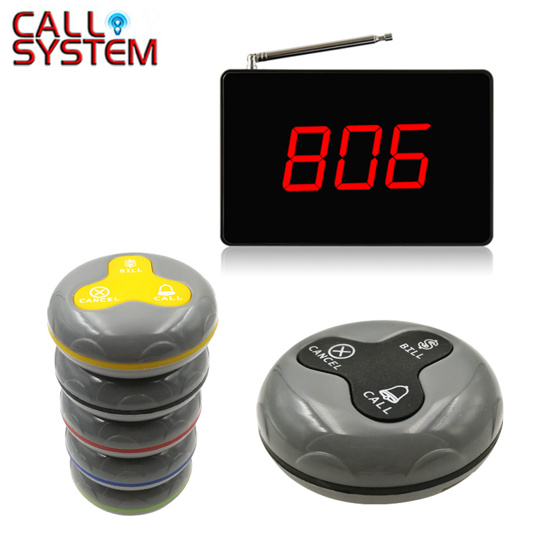 Waiter Buzzer Call System 433.92MHZ Restaurant Table Service Call Button Userfriendly Long Range(1 display+8 call button)Waiter Buzzer Call System 433.92MHZ Restaurant Table Service Call Button Userfriendly Long Range(1 display+8 call button)