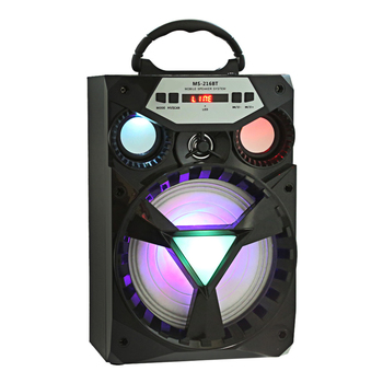 Redmaine MS - 216BT Altavoz Bluetooth multifuncional Unidad de gran unidad Bajo Retroiluminación colorida Radio FM Control de voz lautsprecher bluetooth