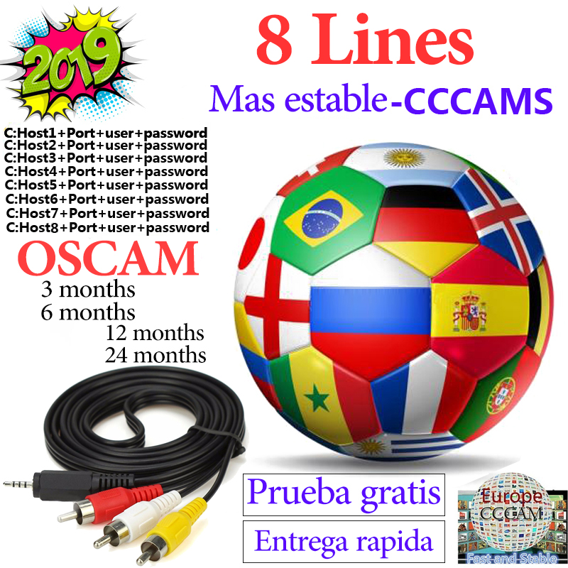 Cccam Espa A Stable 8 Line Cccam Server HD Spain Europe Portugal Poland France Ccam OScam Codigos For Receptor Satelite Cccam