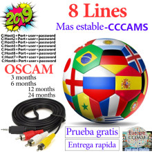 Stable 8 Lines cccam for 1 year europe european Spain Portugal Poland ccam server OSCAM Germany for Satellite TV Receiver(China)