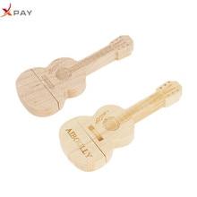 natural wooden bamboo guitar USB flash drive usb 2.0 4GB 8GB pendrive 16GB pen 32GB 64GB engraved LOGO gift free shipping